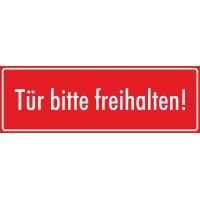 """Aufkleber """"Tür bitte Freihalten"""" (rot)"""