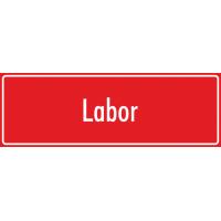 "Aufkleber ""Labor"" (rot)"