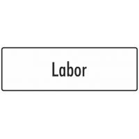 """Aufkleber """"Labor"""" (weiß)"""