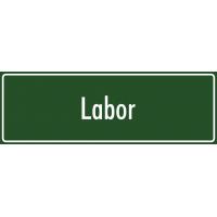 "Aufkleber ""Labor"" (grün)"