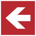 """Schilder """"Richtungsangabe links"""""""