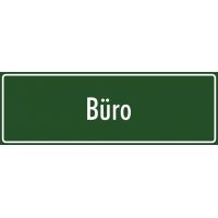 """Aufkleber """"Büro"""" (grün)"""