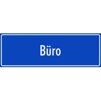 """Aufkleber """"Büro"""" (blau)"""