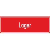 """Aufkleber """"Lager"""" (rot)"""