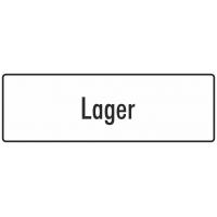 """Aufkleber """"Lager"""" (weiß)"""