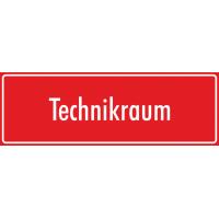 "Aufkleber ""Technikraum"" (rot)"
