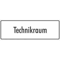 """Aufkleber """"Technikraum"""" (weiß)"""