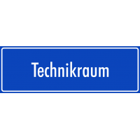 "Aufkleber ""Technikraum"" (blau)"