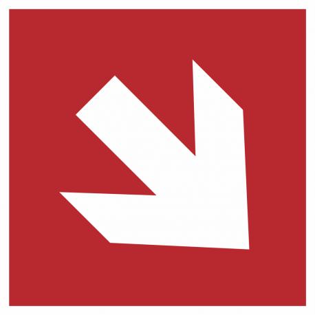 """Schilder """"Richtungsangabe rechts abwärts"""""""