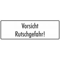 """Aufkleber """"Vorsicht Rutschgefahr"""" (weiß)"""