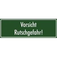 """Aufkleber """"Vorsicht Rutschgefahr"""" (grün)"""