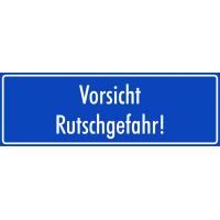 """Aufkleber """"Vorsicht Rutschgefahr"""" (blau)"""