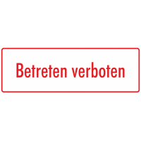 "Aufkleber ""Betreten verboten"" (weiß-rot)"