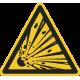 """Aufkleber """"Warnung vor explosionsgefährlichen Stoffen"""""""