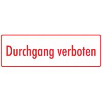 """Schilder """"Durchgang verboten"""" (weiß - rot)"""