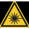 """Aufkleber """"Warnung vor Laserstrahlen"""""""