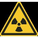 """Aufkleber """"Warnung vor radioaktiven Stoffen oder ionisierender Strahlung"""""""