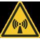 """Aufkleber """"Warnung vor nichtionisierender Strahlung"""""""