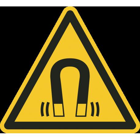 """Aufkleber """"Warnung vor magnetischem Feld"""""""