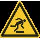 """Aufkleber """"Warnung vor Hindernissen am Boden"""""""