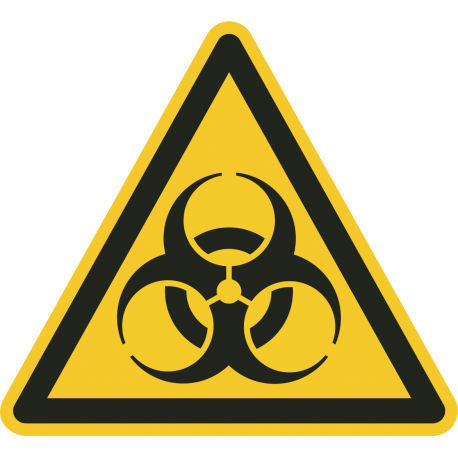 "Aufkleber ""Warnung vor Biogefährdung"""
