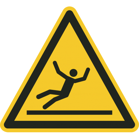 """Aufkleber """"Warnung vor Rutschgefahr"""""""