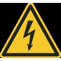 """Aufkleber """"Warnung vor elektrischer Spannung"""""""
