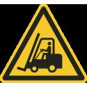 """Aufkleber """"Warnung vor Flurförderzeugen"""""""