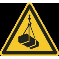 """Aufkleber """"Warnung vor schwebender Last"""""""