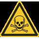 """Aufkleber """"Warnung vor giftigen Stoffen"""""""