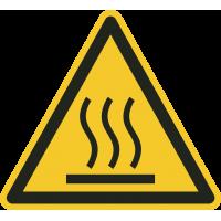 """Aufkleber """"Warnung vor heißer Oberfläche"""""""
