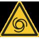 """Aufkleber """"Warnung vor automatischem Anlauf"""""""