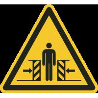 """Aufkleber """"Warnung vor Quetschgefahr"""""""