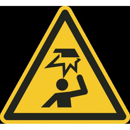 """Aufkleber """"Warnung vor Hindernissen im Kopfbereich"""""""