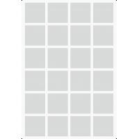 Markierungsaufkleber viereckige 25 mm pro Blatt (24 Stück)