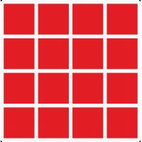 Markierungsaufkleber viereckige 30 mm pro Blatt (16 Stück)