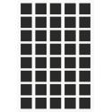Markierungsaufkleber viereckige15 mm pro Blatt (40 Stück)