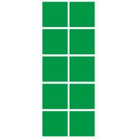 Markierungsaufkleber viereckige 50 mm pro Blatt (10 Stück)