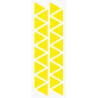 Markierungsaufkleber Dreieckig 24 mm pro Blatt (25 Stück)