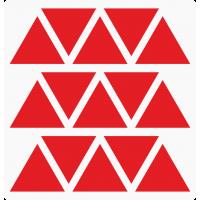Markierungsaufkleber Dreieckig 35 mm pro Blatt (15 Stück)