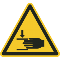 """Aufkleber """"Warnung vor Handverletzungen"""""""