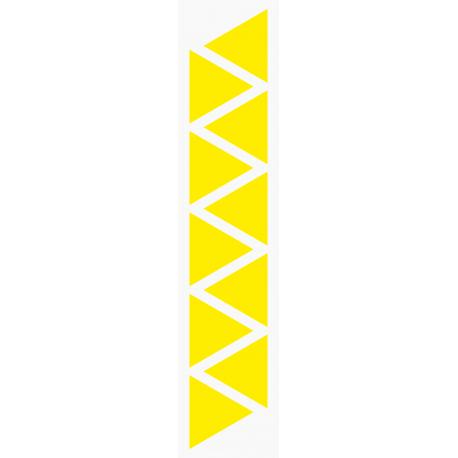 Markierungsaufkleber Dreieckig 50 mm pro Blatt (10 Stück)