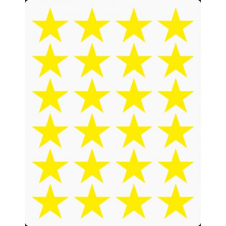 Markierungsaufkleber Stern 25 mm pro Blatt (24 Stück)