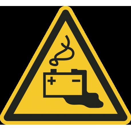 """Aufkleber """"Warnung vor Gefahren durch das Aufladen von Batterien"""""""