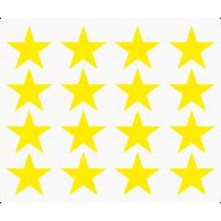 Markierungsaufkleber Stern 30 mm pro Blatt (16 Stück)