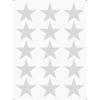 Markierungsaufkleber Stern 35 mm pro Blatt (15 Stück)