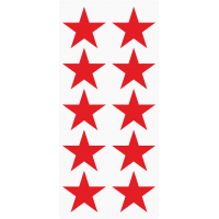 Markierungsaufkleber Stern 50 mm pro Blatt (10 Stück)