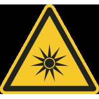 """Aufkleber """"Warnung vor optischer Strahlung"""""""