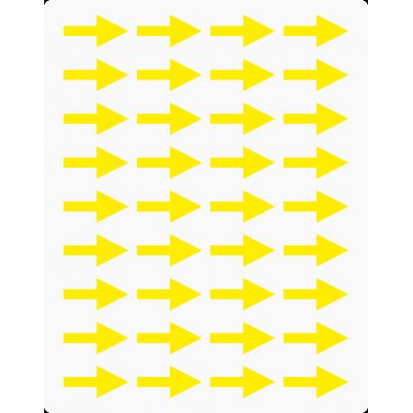 Markierungsaufkleber Pfeil 20 mm pro Blatt (36 Stück)