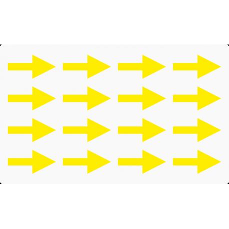 Markierungsaufkleber Pfeil 30 mm pro Blatt (16 Stück)